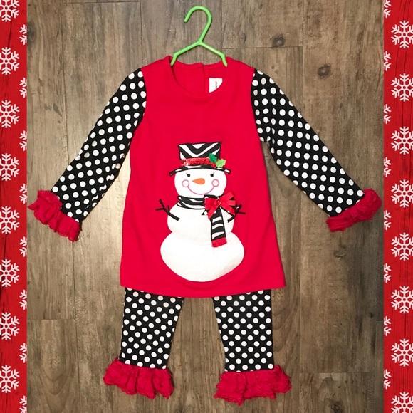 87941281c46c Christmas Holiday Snowman Top & Polka Dot Pant Set.  M_5beedfd38ad2f965b39079c9